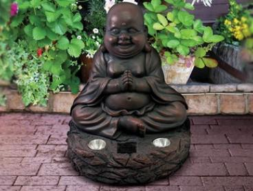 Buddha with Solar-Powered Light: One ($25) or Two ($45) (Don't Pay up to $158)
