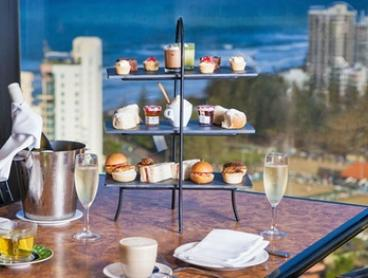 Sparkling High Tea for One ($29) or Six People ($139) at Awarded Four Winds 360° Revolving Restaurant (Up to $276 Value)