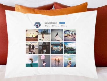 Decorate Your Bed with a Personalised Social Media Profile Pillowcase - Only $10 for One or $18 for Two (Valued Up To $67.70)