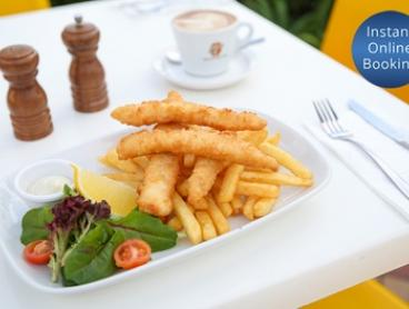 Waterfront Lunch with Coffee or Tea for One ($18) or Four People ($72) at Watsons Bay Tea Gardens (Up to $123.60 Value)