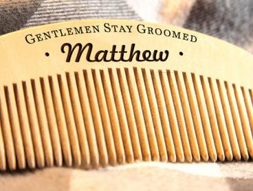 Personalised Beard & Moustache Bamboo Combs: $10 for One, $19 for Two, or $36 for Four (Valued Up To $120.24)