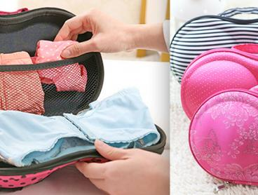 Prevent Crushing and Creasing Your Bras When You Hit The Road with a Travel Bra Organiser. Available in Nine Cool Designs to Suit Your Luggage Look - Don't Fly the Coop Without One! From Only $13