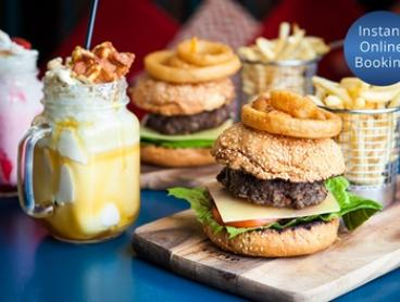 Burger with Shimmy shake Each for Two ($19) or Four People ($35) at Ibis Kitchen (Up to $84 Value)
