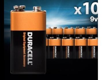 Duracell 9V Alkaline Batteries 10-Pack
