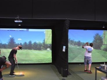 Virtual Golf and Bucket of Beers - Two ($65) or Three-Hours ($85) at Par-Tee Indoor Golf Center (Up to $176 Value)