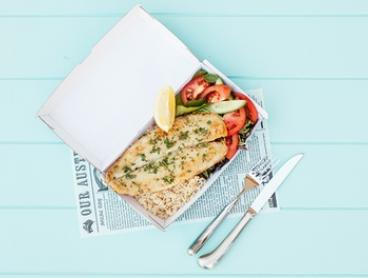 $7 for Grilled Fish with Rice or Chips, Salad and Water at Costi's Fish and Chips, Suncorp Plaza (Up to $14.40 Value)
