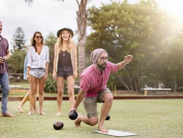$29 for 2-Hour Barefoot Bowls Session + Drinks for Up to Eight People at Osbourne Park Bowling Club (Up to $136 Value)