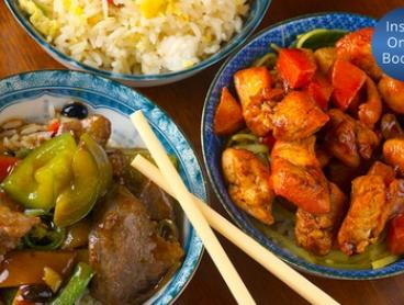 Chinese Banquette with Tea & Wine for Two ($35) or Four ($69) at Grand Palace Chinese Restaurant (Up to $119.20 Value)