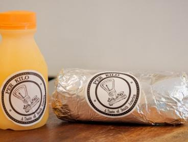 CBD Breakfast Burrito and Orange Juice ($6) at Per Kilo (Up to $13.40 Value)