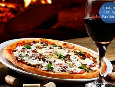 All-You-Can-Eat Pizza and Pasta with Wine for Two ($39) or Four People ($77) at Trovata Restaurant (Up to $216 Value)