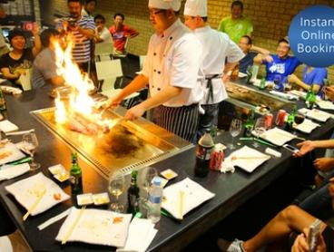 Five-Course Teppanyaki with Sake for Two ($75) or Four People ($149) at Akita Teppanyaki, Sylvania (Up to $355 Value)