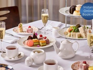 High Tea with Sparkling Wine for 2 ($64) or 6 People with All-Day Parking ($199) at Stamford Plaza (Up to $444 Value)
