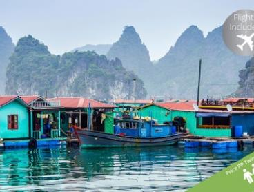 Vietnam: $2,599 Per Person for an 18-Day Grand Tour with Domestic and International Flights with Halong Tours Booking