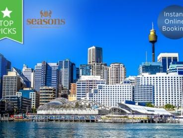 Sydney, Darling Harbour: One-Night Deluxe Suite Stay for Two People at 4* Seasons Darling Harbour
