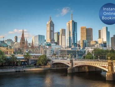 Melbourne, CDB: 2- or 3-Night 2-Bedroom Apartment Stay for Four People with Wine at Platinum Apartments Short Stay