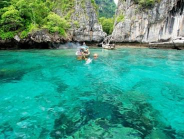 Thailand, Phuket: Full Day Speedboat Tour to Phi Phi, Maya Bay and Khai Island for 1 Adult ($55) or Child ($49) + Lunch