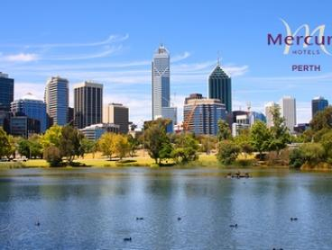 Perth CBD: 1- or 2-Night City Getaway for Two People with Breakfast and Late Check-Out at the 4.5-Star Mercure Perth