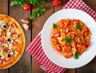 $29 for a Two-Course Italian Dinner for Two People at Bonus Bros Pizza and Pasta (Up to $49 Value)