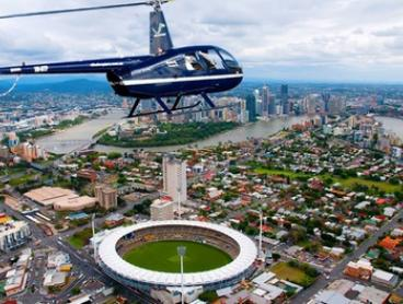 Scenic Helicopter Flight over Mount Coot-tha ($69) or Brisbane CBD ($187) with V²  Helicopters (Up to $375 Value)