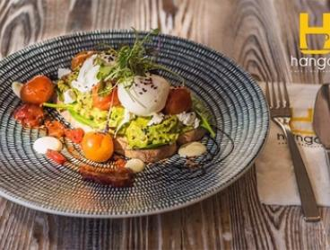 Breakfast with Coffee for One ($12.90) or Two ($24) at Hangar Cafe QV (Up to $39.40 Value)