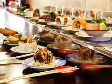 Sushi Train + Sake Cocktail: Four ($15), Seven ($22), Eight ($29) or 14 Plates ($44) at Alan's Sushi (Up to $90 Value)