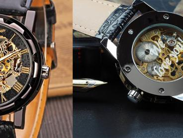 Custom Engraved Skeleton Mechanical Watches: $39 for One Watch, $76 for Two Watches, or $111 for Three Watches (Valued Up To $370.32)