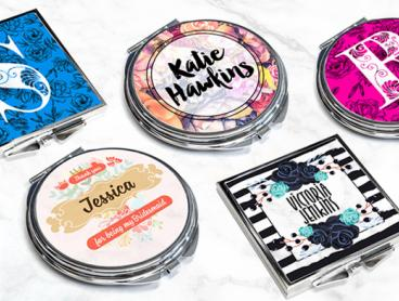 Stylish and Compact Personalised Pocket Mirror - $8 for One or $14 for Two Mirrors (Valued Up To $55.84)