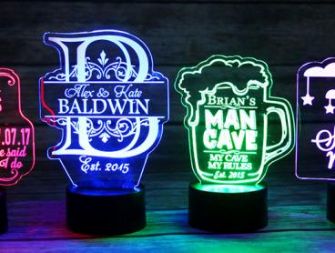 Personalised LED Color Changing Signs - Grab One for $29, or Two for $57 (Valued Up To $118.08)