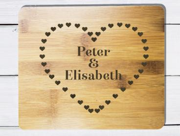 Add a Unique Touch to Your Kitchen with Personalised Cutting or Serving Boards - Only $11 for One or $21 for Two (Valued Up To $45.62)
