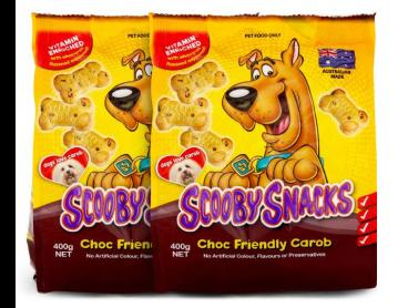 2 x Scooby Snacks Choc Friendly Carob 400g