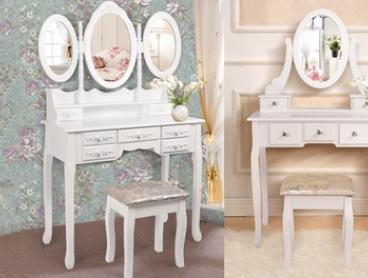From $149 for a Dressing Table with Stool, Mirror and Drawers