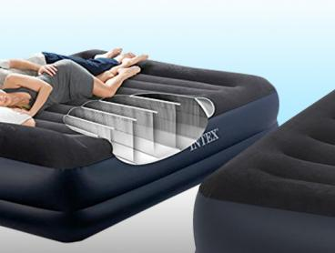 Don't Sacrifice Comfort for Portability and Invest in This Intex Queen Pillow Rest Airbed! This Airbed Sports a Built in Pump and Pillow. Only $69 Or Buy Two For Only $129