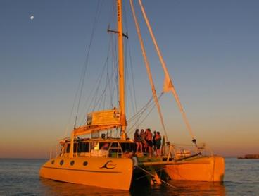 2-Hour Twilight Sail with Gourmet Platter and Drinks for One ($69) or Two People ($138) with Charter1 (Up to $196 Value)