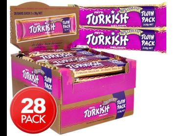 28 x Fry's Turkish Delight Twin Bar 76g