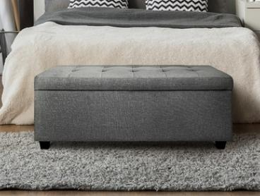 From $89 for a Seating and Storage Ottoman in Choice of Fabric and Colour