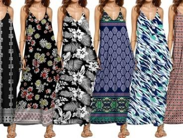 Women's Printed Maxi Dress: One ($25) or Two ($39) (Don't Pay up to $118)