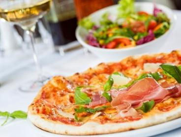 Two-Course Italian Dinner with Wine for Two ($35) or Four ($69) at Rockys Pizza (Up to $128.40 Value)