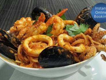 Italian Food and Drinks Voucher: $29 for $50 for Minimum 2 or $58 for $100 for Minimum 4 People at Bay Italia