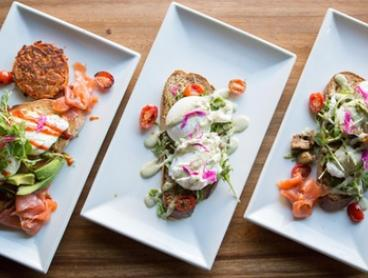 Two-Course Brunch with Coffee for 1 ($29), 2 ($58) or 10 ($275) at Dejavu Tapas Rooftop Restaurant (Up to $455.50 Value)