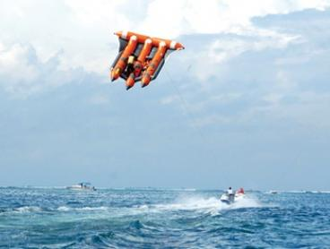 Bali: Watersports Adventure Tour with Water Sport Activities, Equipment, Hotel Transfers, Professional Guide + Insurance