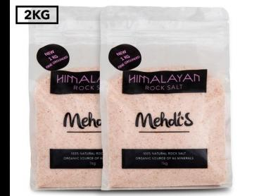 2 x Mehdi's Himalayan Rock Salt Fine Grounded 1kg