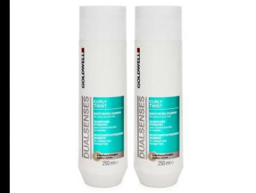 2 x Goldwell Dual Senses Curly Twist Moisturising Shampoo 250mL