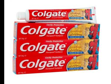 3 x Colgate Cavity Protection Spider-Man Gel Toothpaste Sparkling Mint 110g
