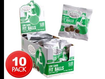 10 x Slim Secrets Low Carb Fit Balls Choc Mint 50g