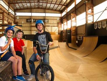 Skate Park Session + Gear Hire ($7) & Coaching Clinic ($15) or Party Package ($149) at Rampfest (Up to $299 Value)