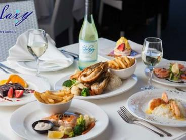 Lunch or Dinner: 1 ($35), 2 ($65) or 4 People ($125) at Galaxy Seafood Mediterranean Restaurant (Up to $250.80 Value)