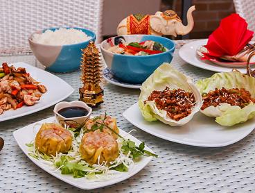 Authentic Seven-Dish Thai Lunch or Dinner Banquet is $35 for Two People or $65 for Four (Valued Up To $141.80)