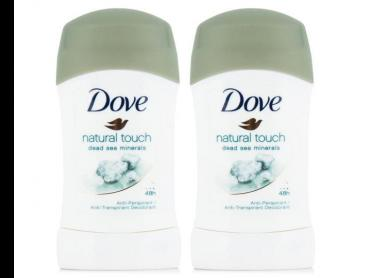 2 x Dove Natural Touch Dead Sea Minerals Deodorant Stick 40mL