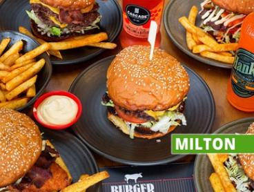 Choice of Burger with Chips & Beer for 2 ($39) or 4 ($78) People at Burger Institute - Milton (Up to $123.20 Value)