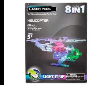 Laser Pegs 8-in-1 Helicopter Construction Toy